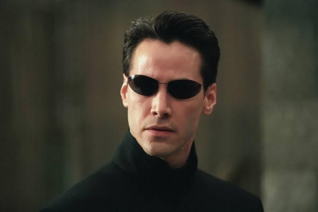 Fotografía de Keanu Reeves en la saga Matrix