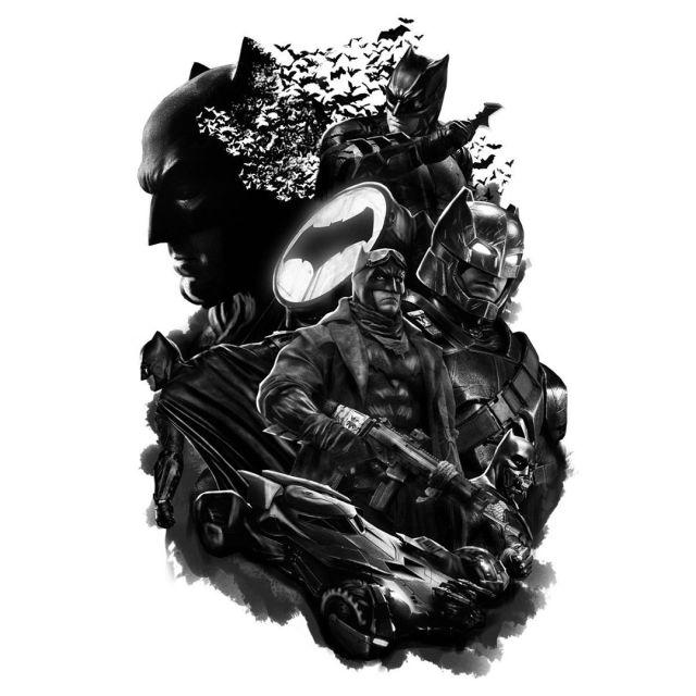 Ilustración de Ben Affleck como Batman para DC FanDome