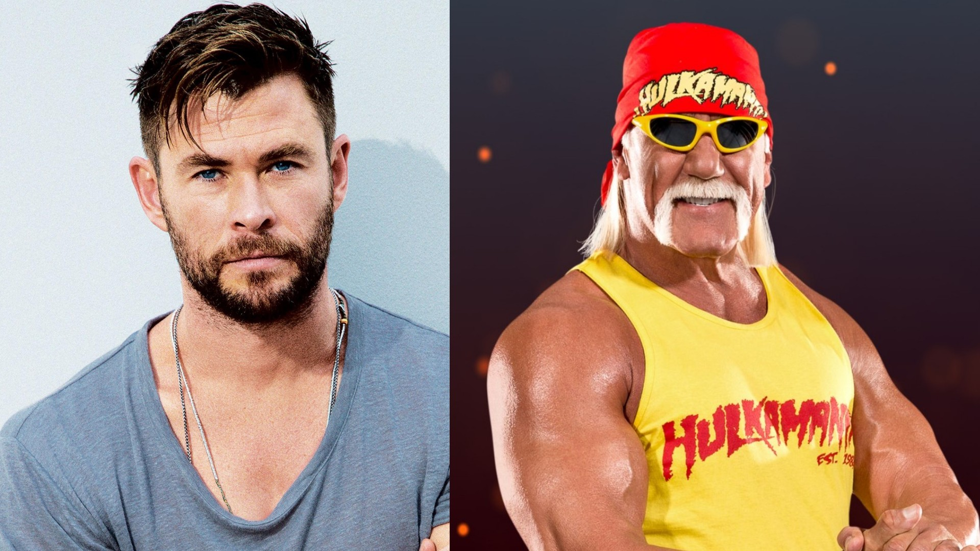 Fotografía de Chris Hemsworth y Hulk Hogan
