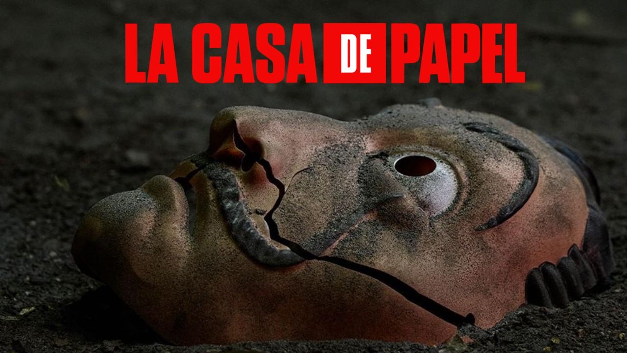 Fotografía de La casa de papel con logo de la serie