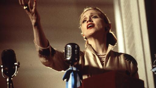 Fotografía de Madonna en Evita