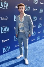 LOS ANGELES, CALIFORNIA - JUNE 17: Evan Hofer arrives at the world premiere for LUCA, held at the El Capitan Theatre in Hollywood, California on June 17, 2021. (Photo by Alberto E. Rodriguez/Getty Images for Disney)