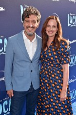 LOS ANGELES, CALIFORNIA - JUNE 17: (L-R) Enrico Casarosa and Andrea Warren arrive at the world premiere for LUCA, held at the El Capitan Theatre in Hollywood, California on June 17, 2021. (Photo by Alberto E. Rodriguez/Getty Images for Disney)