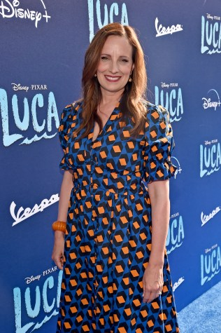 LOS ANGELES, CALIFORNIA - JUNE 17: Andrea Warren arrives at the world premiere for LUCA, held at the El Capitan Theatre in Hollywood, California on June 17, 2021. (Photo by Alberto E. Rodriguez/Getty Images for Disney)