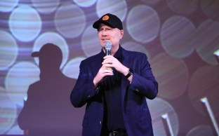 LOS ANGELES, CALIFORNIA - JUNE 08: Kevin Feige speaks onstage during the Loki Global Fan Event at El Capitan Theatre on June 08, 2021 in Los Angeles, California. (Photo by Jesse Grant/Getty Images for Disney )
