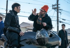 Henry Golding and Director Robert Schwentke on the set of Snake Eyes: G.I. Joe Origins from Paramount Pictures, Metro-Goldwyn-Mayer Pictures and Skydance.
