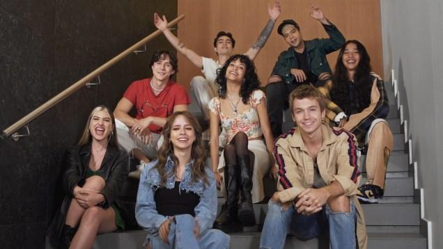TUDUM! 2021. (L to R): Cast of Rebelde. Cr. Courtesy of Netflix/Netflix © 2021