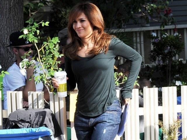 Jennifer Lopez filming The Boy Next Door