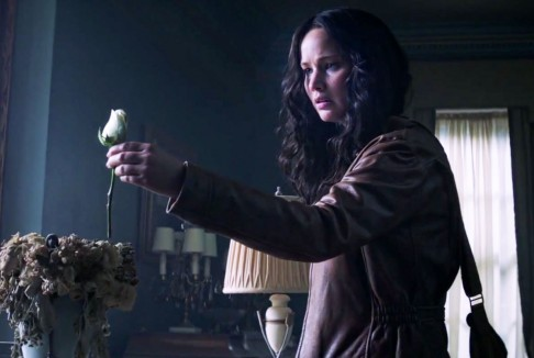 Katniss trandafir alb