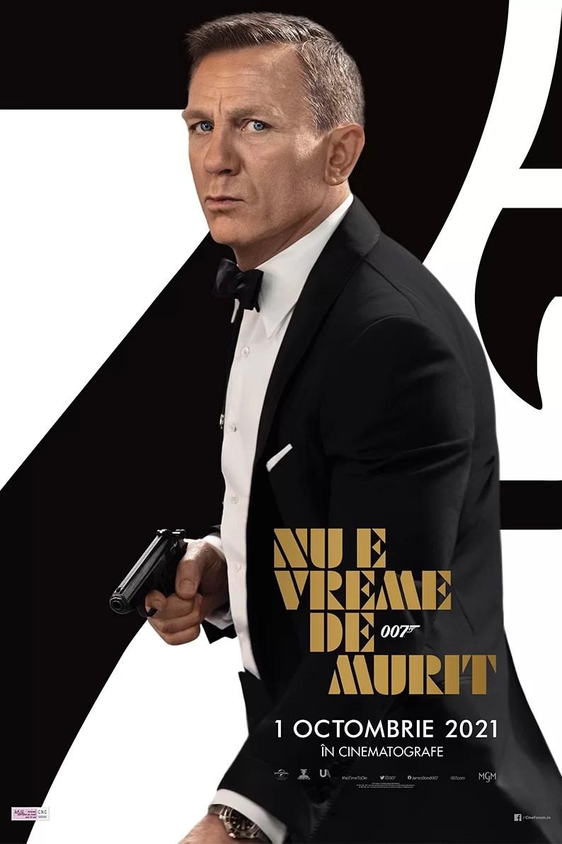 James Bond No time to die - James Bond Nu e vreme de murit poster