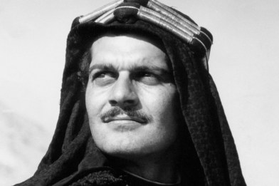 Omar Sharif in a scene from the film Lawrence of Arabia..