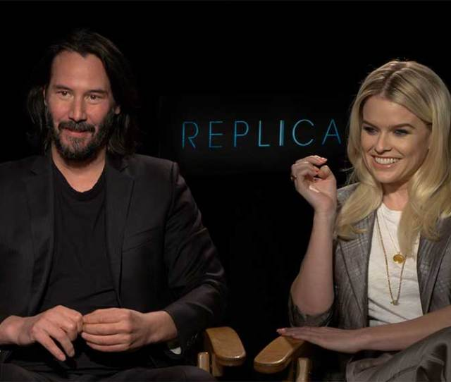 Interview Keanu Reeves Alice Eve Talk Replicas