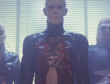 An image of Pinhead and the Cennobites from Hellraiser.