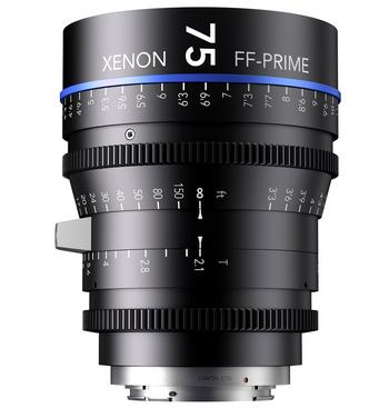 Xenon full-frame primes 75mm