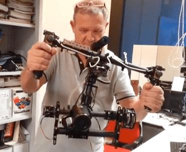 VR Gimbal Brushless Gimbal Joystick Control