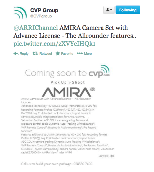 AMIRA Camera Set with Advance License - The Allrounder features