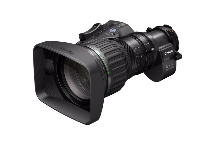 Canon HJ18ex7.6B portable HD zoom lens