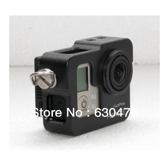 Free shipping GoPro HD Hero3 Camera CNC Aluminium Cage, black, gopro accessories