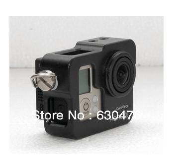 Free shipping GoPro HD Hero3 Camera CNC Aluminium Cage, black, gopro accessories
