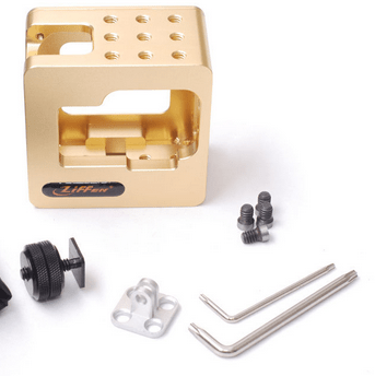 Gopro Cage New Gopro Accessories Gocage for Gopro HD Hero2 and Hero3 CNC Made Golden Color