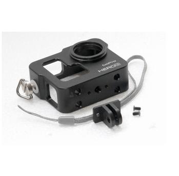 New Black CNC Aluminium Cage GoPro HD Hero 3 Camera protector