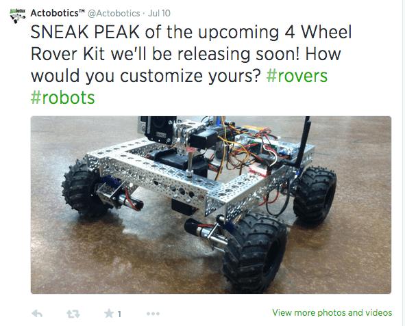 4 Wheel Rover Kit Tweet