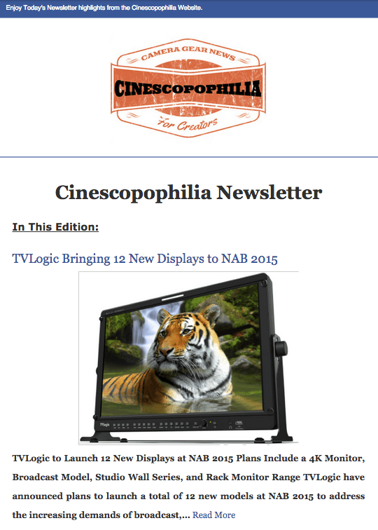 Cinescopophilia Newsletter RSS Feed