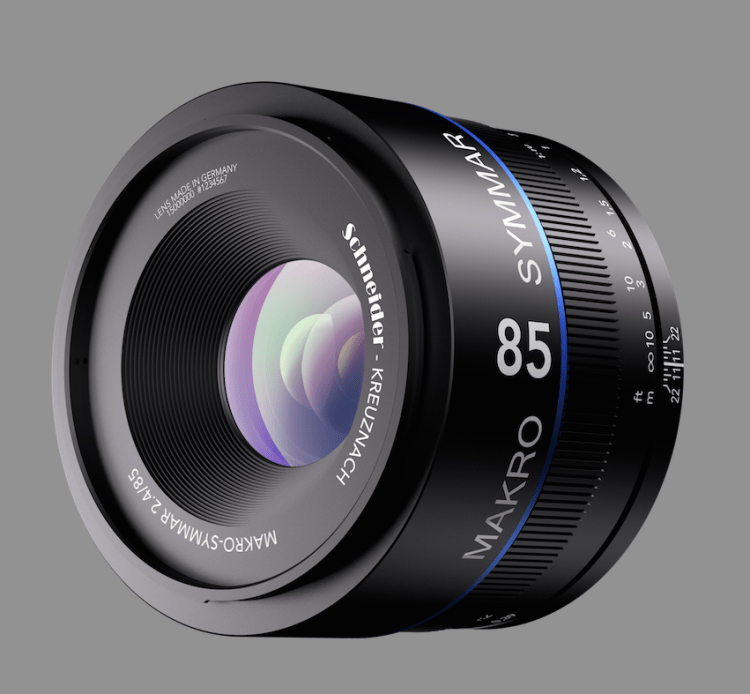 Macro Symmar with an 85 mm focal length and a maximum aperture of 2.4