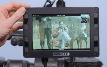 Real-time Color Grading SmallHD Onboard Monitor
