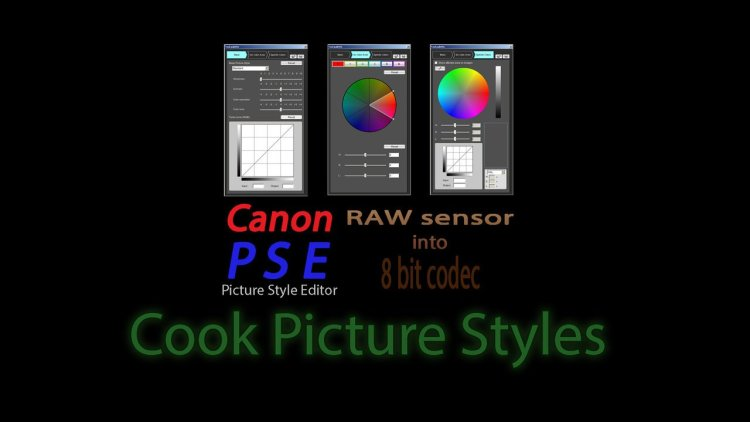 Set of Cook 28 Picture Styles For Canon Cameras: