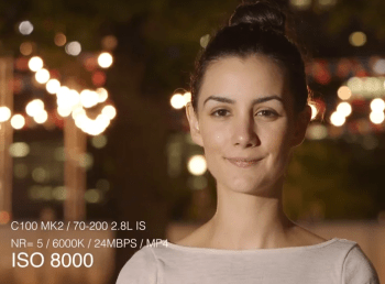 Canon C100 MKII High ISO Tests