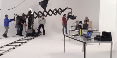 Scissor mini telescopic camera crane