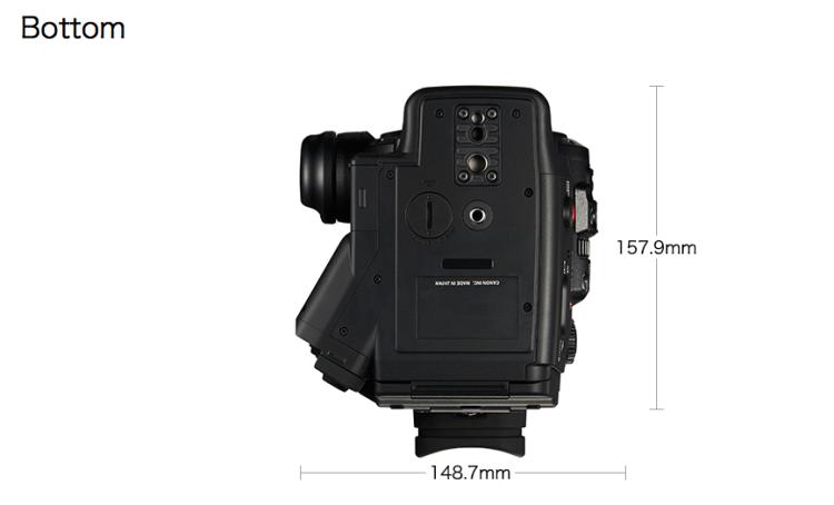 4K Canon C300 MKII Bottom