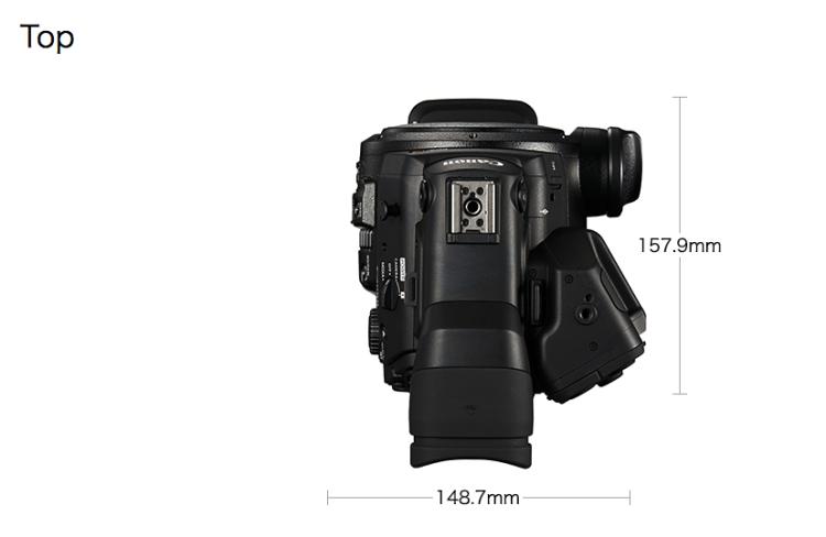 4K Canon C300 MKII Top