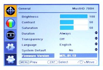 M700H Menu