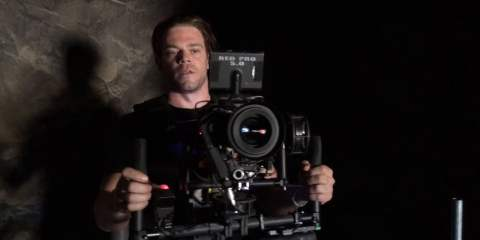 Scratch Built Gimbal with Red Dragon & Angeniux Optimo Zooms on location from Dan Czerwonka