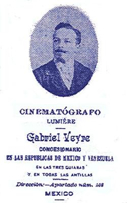 Tarjeta de presentación de Gabriel Veyre