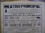 Cartel del Teatro Principal del 2 del noviembre de 1901