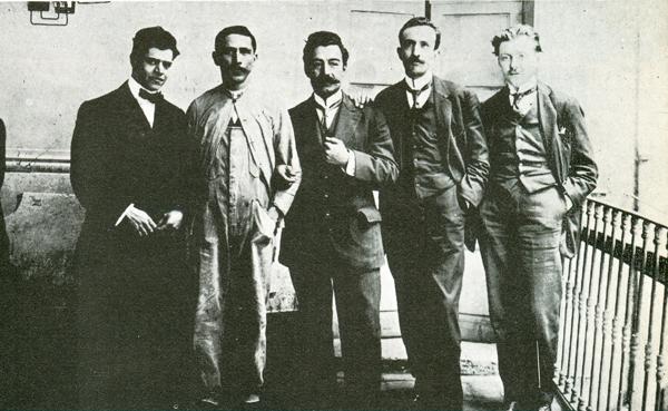 Rafael Pérez Taylor (Hipólito Seijas) extrema derecha ca. 1912