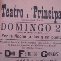 Cartel cinematográfico con grabado de José Guadalupe Posada (1909)