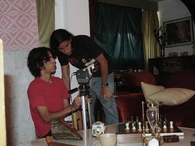 Preparing the Sony mini DV camera with brown tape