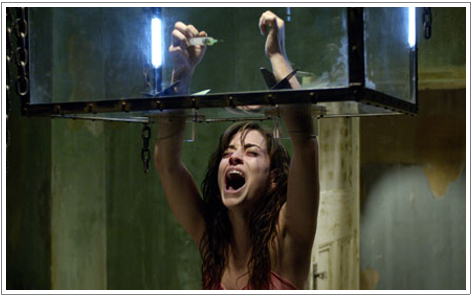 The Arm Box trapping Emmanuelle Vaugier. At least shes not the worlds baldest werewolf like that one time on Supernatural.