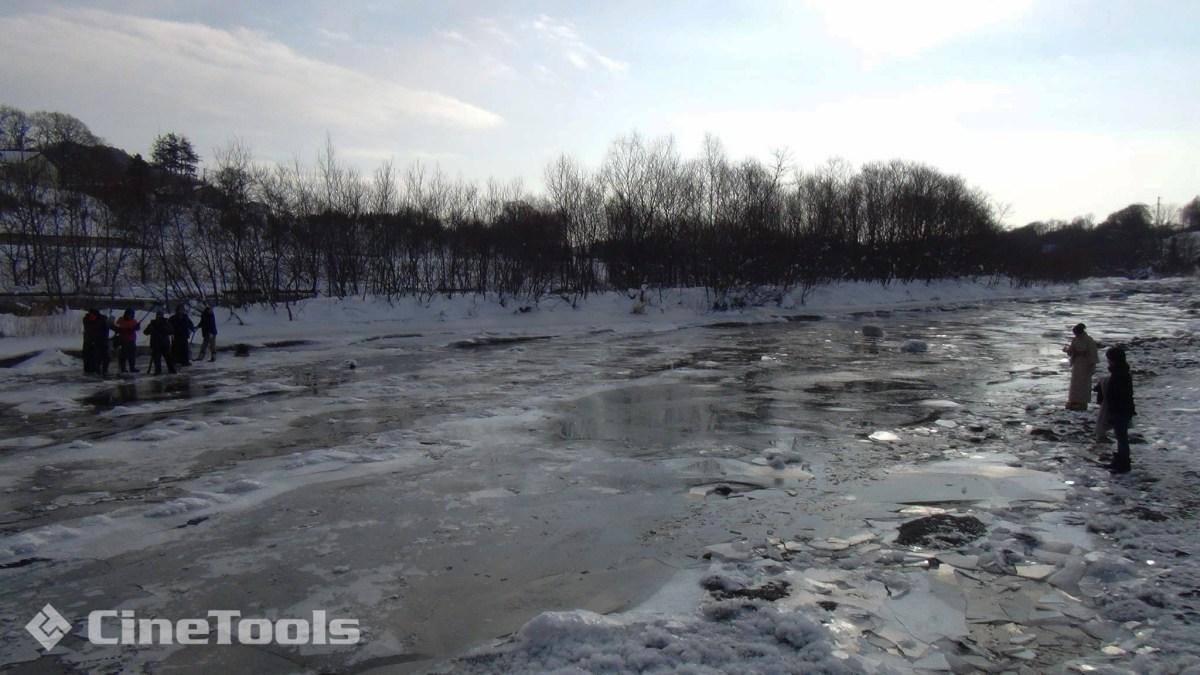 140年前の豊平川を再現するため某河畔へ移動