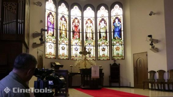 元町地区に有る教会での撮影
