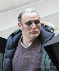On location with 'Doctor Strange' filming in New York City