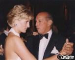 Oscar de la Renta with Princess Diana