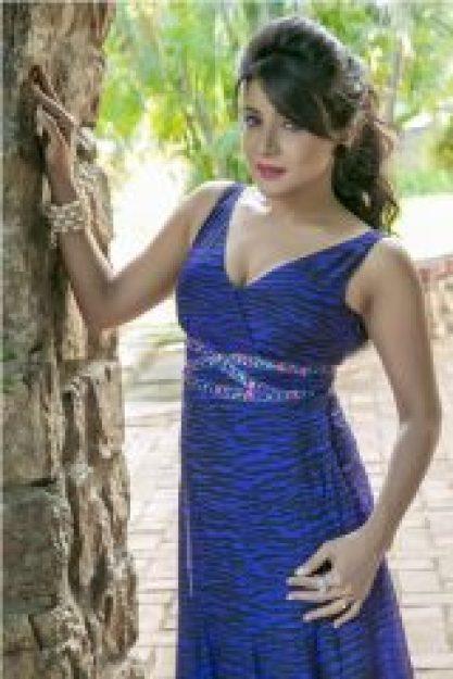 Sakshi Agarwal in Navy Blue