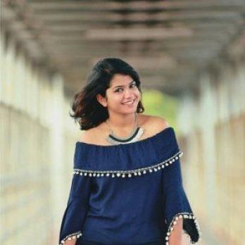 Anarkali in Navy Blue