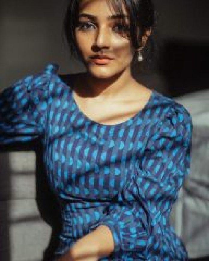 Rajisha Vijayan in Gargeous Blue
