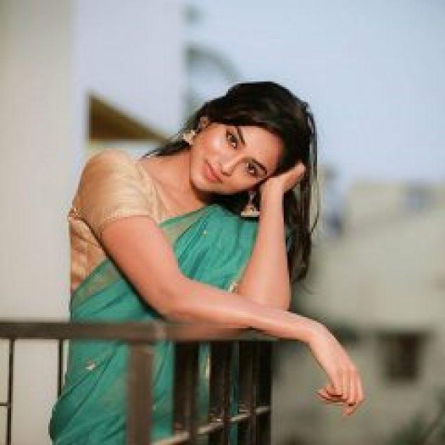 Indhuja Ravichandran in Saree